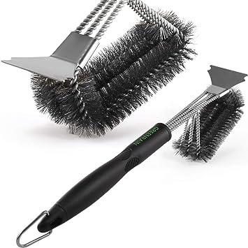 Amazon.com: GREENRAIN - Cepillo de parrilla con rascador de ...