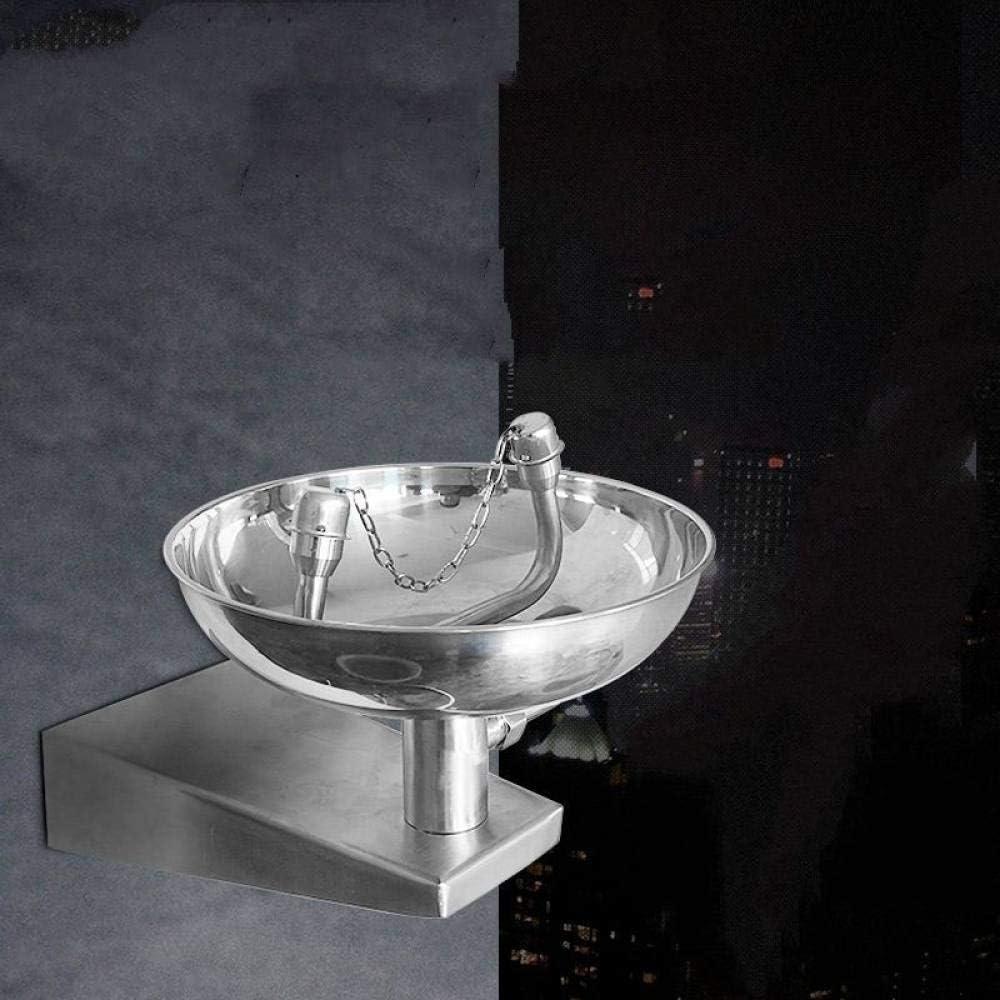 FFHJHJ Sistema de Ducha Acero Inoxidable 304 Equipo de Seguridad Estación de Lavado de Ojos de Emergencia Montado en la Pared Lavaojos Lavadora Herramienta de Ayuda para el puño Grifo, níquel cepil