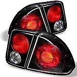 For 2001-2005 Honda Civic Sedan 4-Door Black Tail Brake Lights + Trunk Piece 4Pcs Set