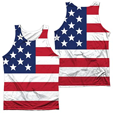 26e3447c599379 Image Unavailable. Image not available for. Color  American Flag Unisex  Adult Sublimated Tank Top for Men ...