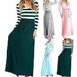 Women's Bohemian Dresses Summer Striped Bohemian