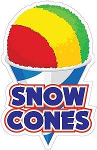 Snow Cones Concession Restaurant Food Truck Die-Cut Vinyl Sticker 10 inches