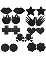 JOVIVI® Satins Disposable Pasties Nipple Cover, Different Style Set