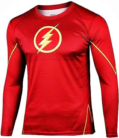 Chemise à Manches Longues pour Homme   t Shirt Super héros   Sport