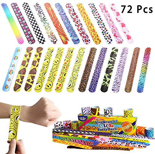 JOYIN Toy 72 PCs Slap Bracelets Party Favors