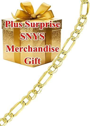 d0543ae031a1d 14k Gold Figaro Bracelet