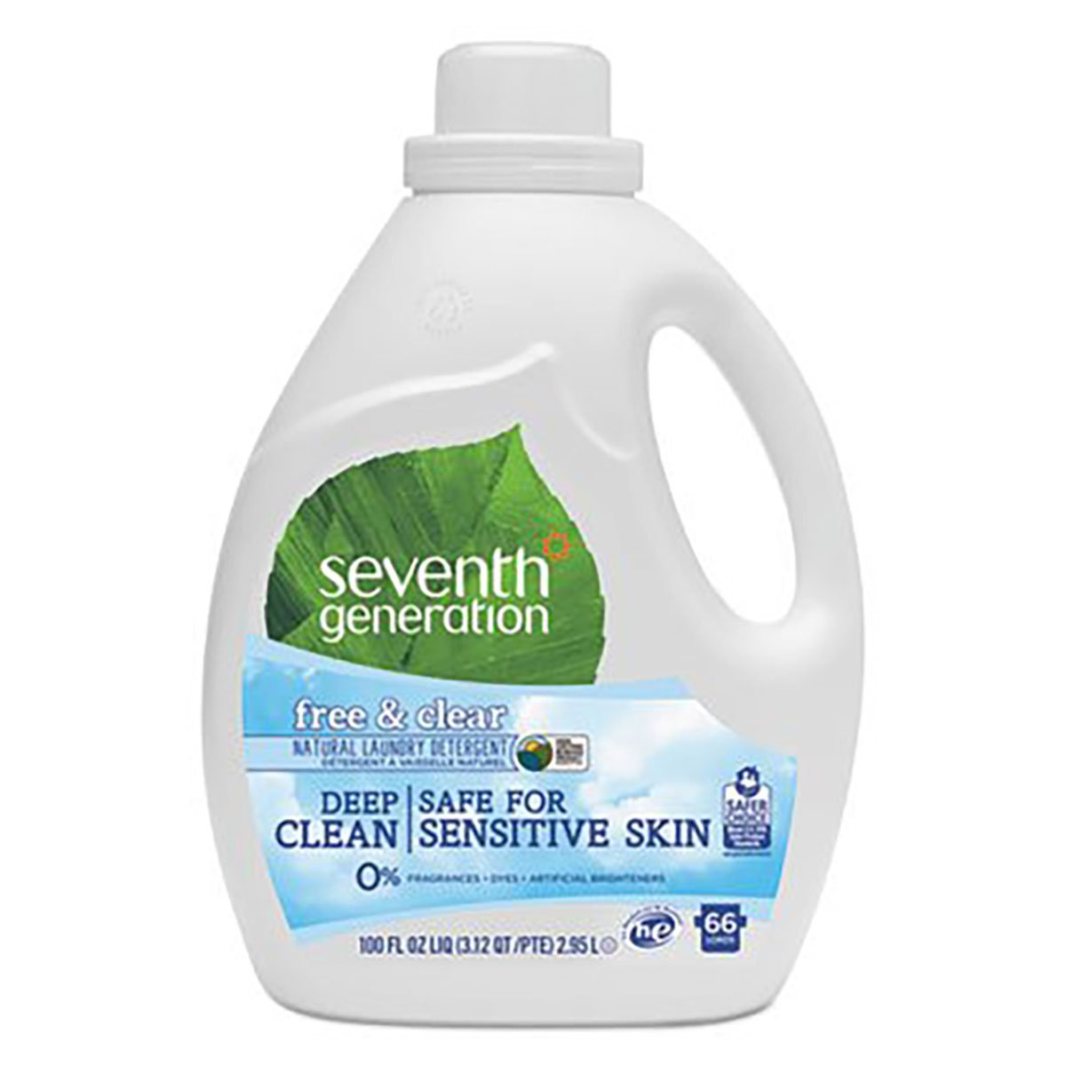 Seventh Generation超自然2 x濃縮液体洗濯洗剤、100オンス – - 1ケース4。 B01CTABREQ