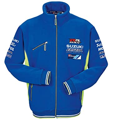 SUZUKI MotoGP Team Fleecejacke Ecstar Team blau neon gelb (S)