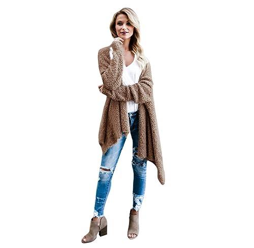 Escudo, abrigo,Internet Manga larga de punto de lana de oveja Suéteres de la rebeca prendas de vesti...