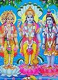 Hindu Trinity Brahma Shiva Vishnu POSTER A3 Picture India Hindu Indian Print Wall Art Image Oriental Painting
