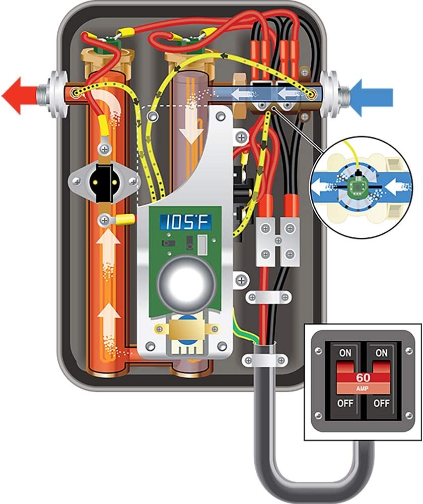 EcoSmart ECO 11 Electric Tankless Water Heater 13KW at 240 Volts with Patented