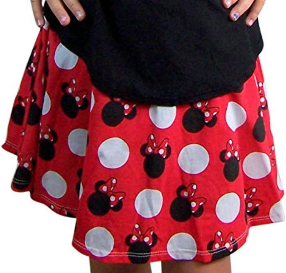 تنورة / شورت قصير كلاسيكي للفتيات بطبعة منقطة حمراء ميني ماوس من ديزني