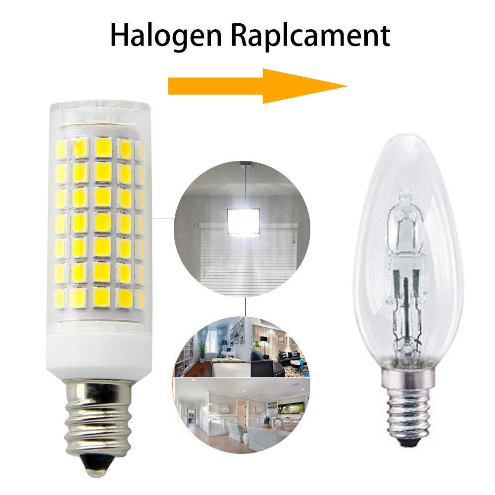 8W E12 Led Blub 75W Equvilent,850LM Dimmable Candelabra Base E12 Bulbs 2-Pack /… (Daylight White) All-New 360 Degree Beam Angle T3//T4 Candelabra Base Corn Bulb AC110-130V E12 LED 90PCS