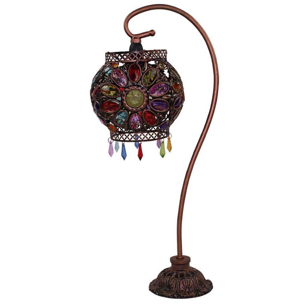 XINYE Tischleuchte Retro Handgefertigt Acryl Perle Dimmbar Schlafzimmer Nachttischlampe