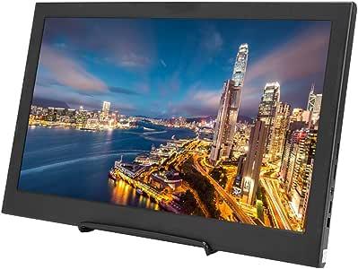 Garsentx Monitor portátil, 14 Pulgadas 16: 9 1366x768 HD TFT Monitor portátil Ultra Delgado para Juegos con Doble Mini HDMI para computadoras portátiles, PS4, Xbox, teléfono, etc.: Amazon.es: Electrónica