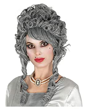 Horror-Shop fantasma barroca gris peluca novia