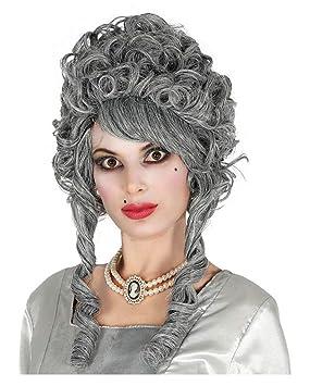 Horror-Shop fantasma barroca gris peluca novia