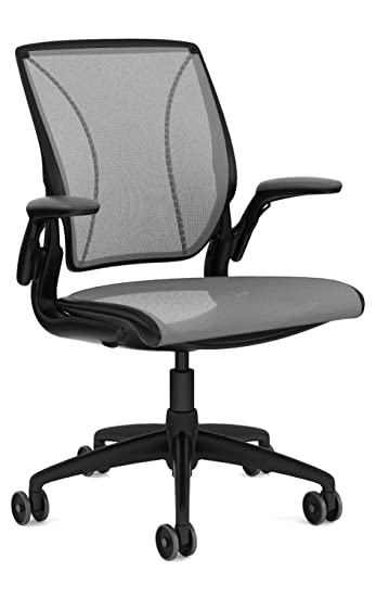 sports shoes f3cac 96126 Humanscale Diffrient World Task Chair: Adjustable Duron Arms - Standard  Height Cylinder - Standard Carpet Casters - Black Frame/Platinum Dash Seat
