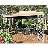 12 x 12 Lattice Gazebo Replacement Canopy – RipLock 500 For Sale
