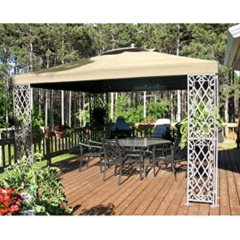 12 x 12 Lattice Gazebo Replacement Canopy - RipLock 500  sc 1 st  Amazon.com & Amazon.com : Garden Winds Replacement Canopy for BJu0027s L-GZ106PAL-1 ...