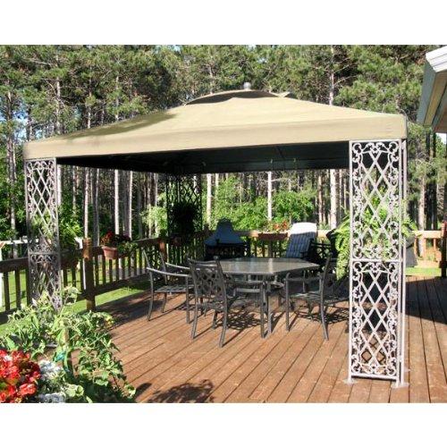 Garden Winds 12 x 12 Lattice Gazebo Replacement Canopy – RipLock 500