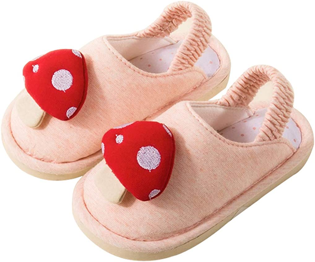Cattior Toddler Cotton Cute Kids Slippers House Bedroom Travel Slippers