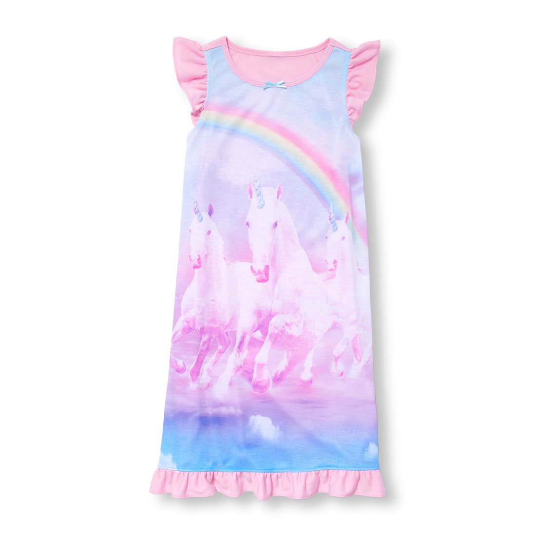 The Children's Place Big Girls' Night Gown, Multi-Colored 96483, L (10/12)