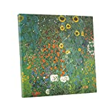 Niwo ART (TM) - Country Garden with Sunflowers, by Gustav Klimt, Oil painting Reproduction - Giclee Wall Art for Home Decor, Gallery Wrapped, Stretched, Framed Ready to Hang (24