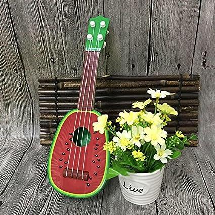 WLGREATSP Creative Musical Ukulele 4 Style 4 String Christmas Birthday Childrens Gift Small Fruit Guitar Ukulele Educational Musical Instrument Kids Funny Toy
