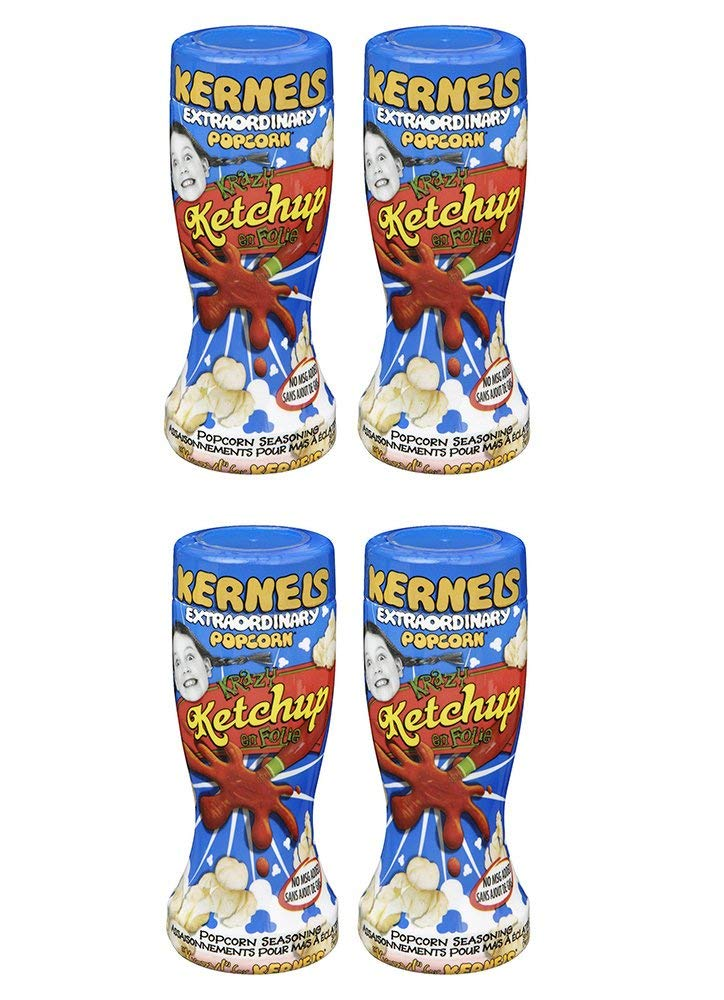 Kernels Ketchup Popcorn Seasoning, 125g (4 Pack) (Imported from Canada)