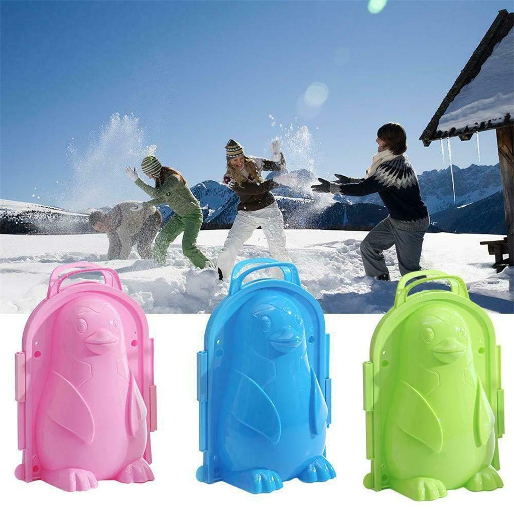 DingLong Schneeball Maker Clip Tool 22x16x12cm Snowball Maker Blau Cartoon-Pinguin Snow Ball Maker Clip Tool Kinder Spielzeug f/ür Winter Outdoor Sports
