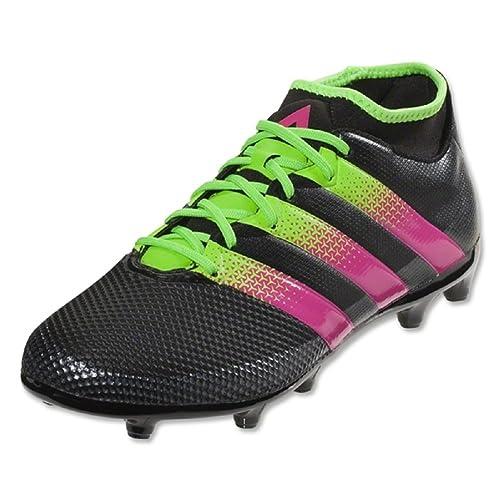 757accc05 Adidas Ace 16.3 Primemesh Youth FG-AG Soccer Cleats (Black Solar Green