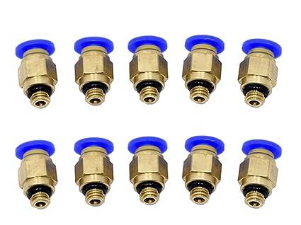 2 Stücke Pc4-m6 Pneumatische Gerade Fitting Anschluss Für 4mm Od Schlauch M6 6mm Reprap Für 3d Drucker Drucker Für E3d Extruder 3d-drucker Und 3d-scanner