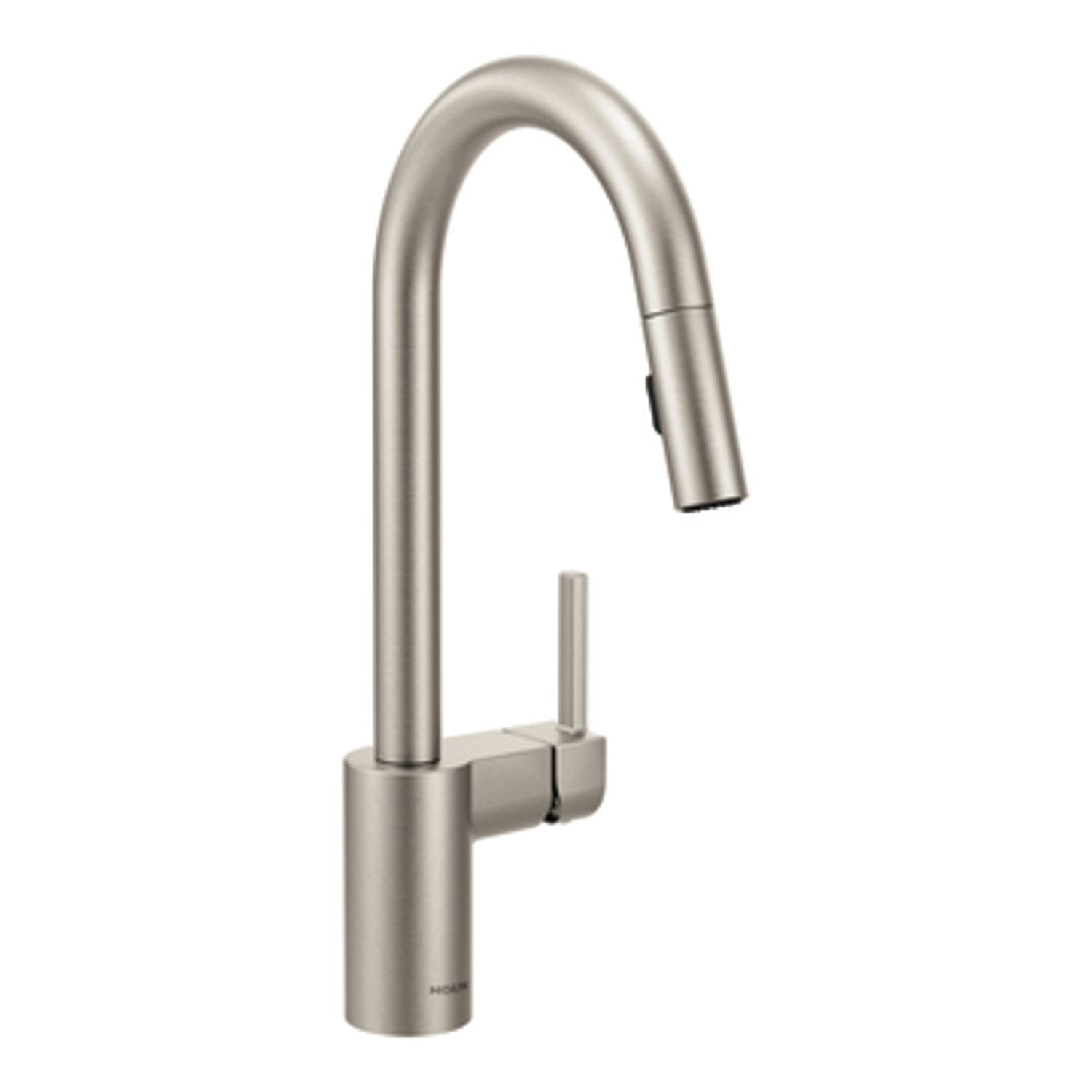 Moen 7565SRS Align One-Handle High-Arc Pulldown Kitchen Faucet, Spot Resist Stainless
