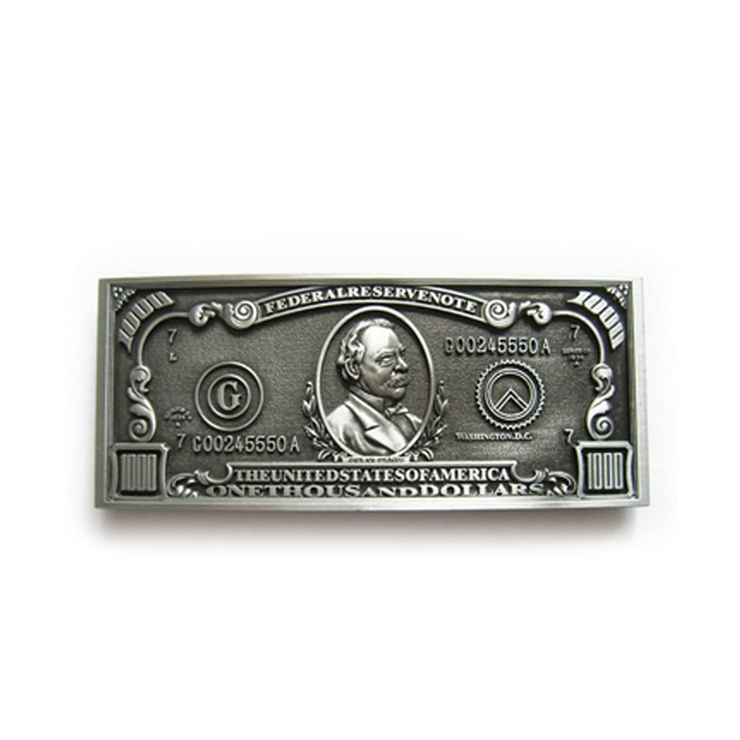 eeddoo® Gürtelschnalle - 100 Dollar Note (Buckle für Wechselgürtel für Damen und Herren | Belt Frauen Männer Oldschool Rockabilly Metall Gothic Wave Rock Biker Western Trucker Casino Skull)