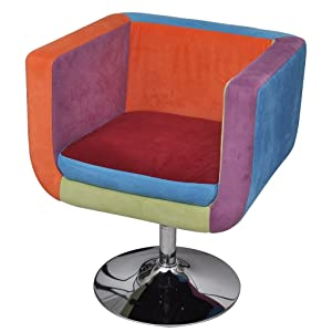 vidaXL Silla en Forma de Cubo Labor de retazos Altura Ajustable dormitorio salón