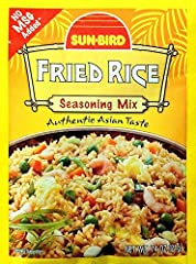 Sunbird Fried Rice Seasoning Mix Packets - 0.75 Ounces Each (Pack of 6) -- A simple-to-make family favorite that captures the enchanting flavors of true Asian seasonings, but without all the heat and fire. - Lose yourself in the flavours of s...