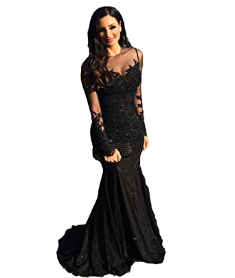 CongYunGe Elegant Mermaid Prom Dresses Long Sleeve Evening Dress for Women at Amazon Womens Clothing store: