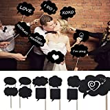 10pcs Photo Booth Props BizoeRade Mini Cardboard Signs With Sticks Mini Blackboards Photography Props Wedding Party Decorations