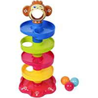 KetZeal Swirl Ball Ramp Roll Ball Educational Toy for Kids (Non Toxic Material)