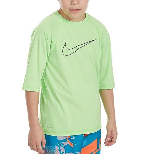 separation shoes c6d41 e547f Nike Big Boys  Heather Swoosh Half-Sleeve HYDROGUARD Rash Guard (Large)