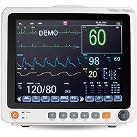 Tragbarer 12,1-Zoll ECG EKG Monitor Machine Touchscreen Patientenmonitor Vital Signs EKG NIBP RESP TEMP SPO2 PR