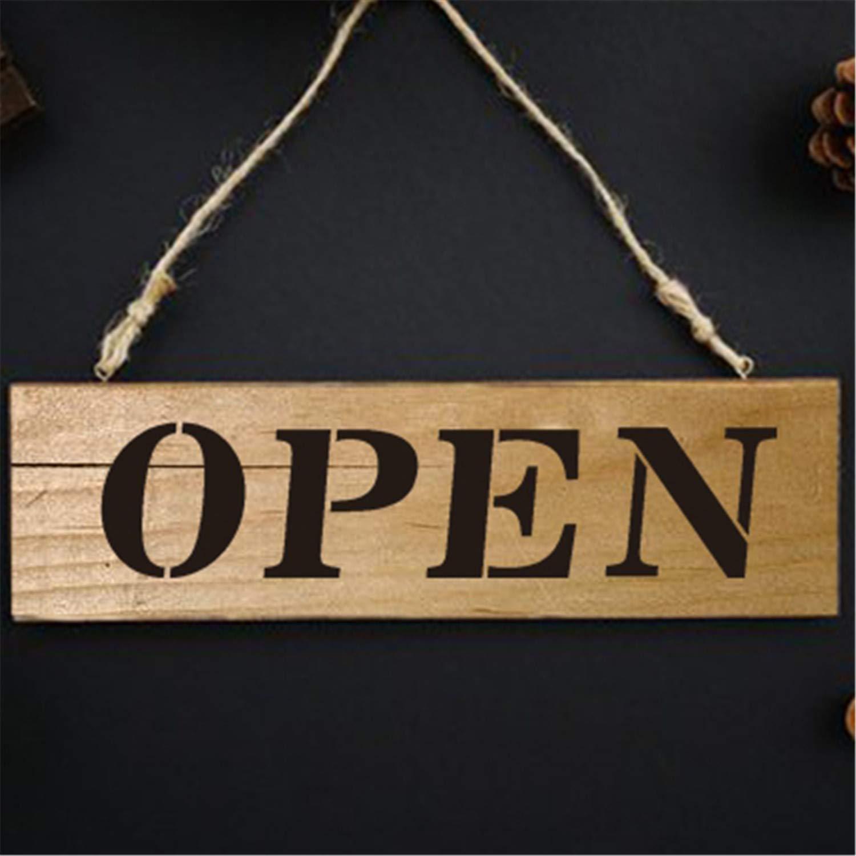 Amazon.com: Señal de estilo rústico abierto cerrado ...