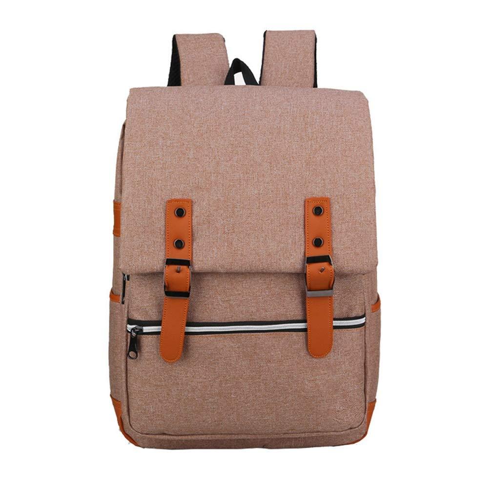 Brown Travel Hiking Laptop Backpack Mens Vintage Canvas Backpack School Laptop Bag Hiking Travel Rucksack Brown (color   Pink)