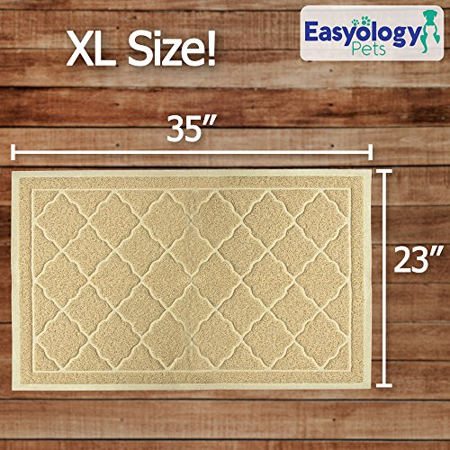 "61S1uVgbIfL - Large Litter Mat 35"" x 23"" Cat Litter Mat, Traps Messes, Easy Clean, Durable, Non Toxic Trapper Rug - Litter Box Mat, Cat Mat, Kitty Litter Mat"