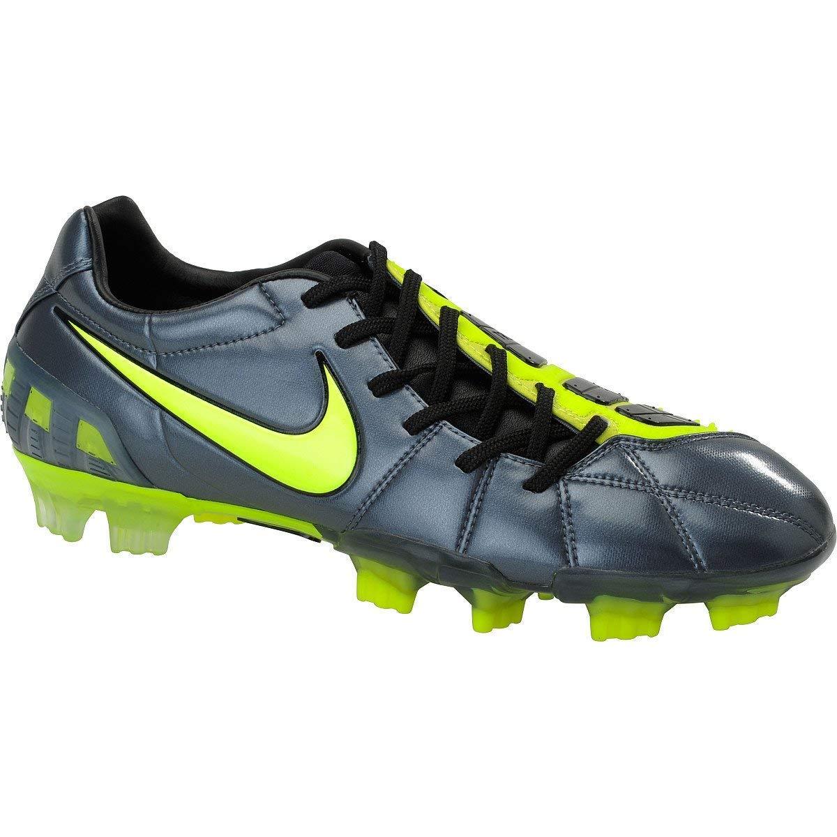 Nike  Herren Soccer Cleats TOTAL90 LASER III FG Metallic Blau   Volt   schwarz SZ 7