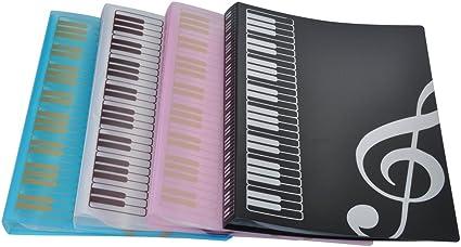 40/pochettes G Clef-Pink Dossier de rangement pour partitions de musique Format A4/