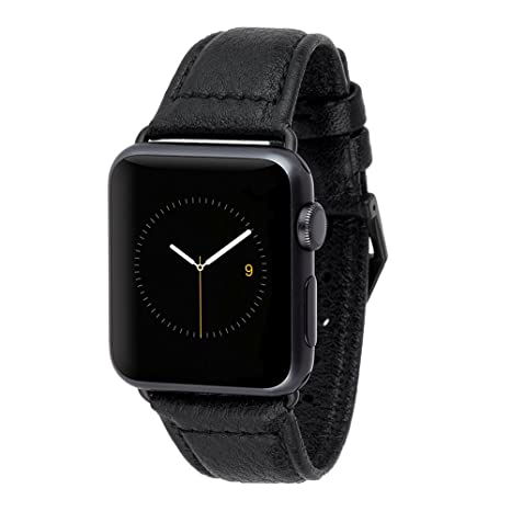 new style 1120e 47274 Case-Mate - Apple Watch Band - 38mm 40mm Pebbled Leather Apple Watch Band -  Series 4, Series 3, Series 2, Series 1 - Black
