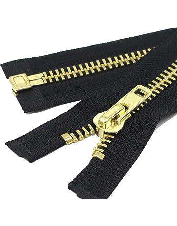 YaHoGa # 10 separación cremallera metalica Gran Cremalleras metal para chaqueta coser abrigos