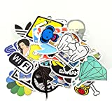 yong8 100pcs Stickers Skateboard Snowboard Vintage Vinyl Sticker Graffiti Laptop Luggage Car Bike Bicycle Decals mix Lot Fashion Cool